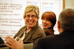 Enjoying the moment - during an innovation lab collaborative event.